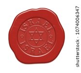 wax red seal isolated on a... | Shutterstock . vector #1074006347