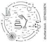 scientific  education elements. ... | Shutterstock .eps vector #1074010874
