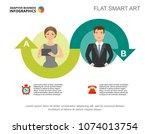 two ideas process chart...   Shutterstock .eps vector #1074013754