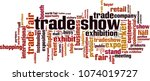 trade show word cloud concept.... | Shutterstock .eps vector #1074019727