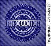 introduction badge with denim... | Shutterstock .eps vector #1074020879