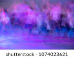 abstract movement in the dance. ...   Shutterstock . vector #1074023621