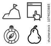 premium outline set containing...   Shutterstock .eps vector #1074023885