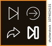 set of 4 next outline icons... | Shutterstock .eps vector #1074024131