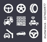 vehicle filled vector icon set... | Shutterstock .eps vector #1074024977