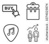 premium outline set containing... | Shutterstock .eps vector #1074025874