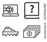 premium outline set containing... | Shutterstock .eps vector #1074026489