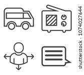 premium outline set containing... | Shutterstock .eps vector #1074027644