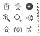 premium outline set of icons...   Shutterstock .eps vector #1074035015