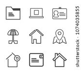 premium outline set of icons... | Shutterstock .eps vector #1074035855