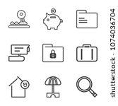 premium outline set of icons...   Shutterstock .eps vector #1074036704