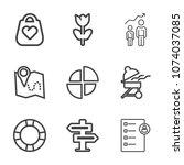premium outline set of icons...   Shutterstock .eps vector #1074037085