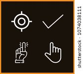 set of 4 select outline icons... | Shutterstock .eps vector #1074038111