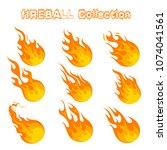 fireball icons design vector