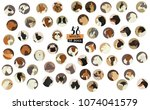 58 breeds of dogs isolated... | Shutterstock .eps vector #1074041579