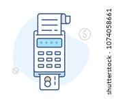 pos  payment terminal  vector... | Shutterstock .eps vector #1074058661