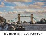 london tower bridge | Shutterstock . vector #1074059537