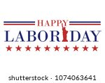 happy labor day banner | Shutterstock .eps vector #1074063641