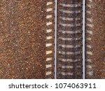railway top view. old railroad  ...   Shutterstock . vector #1074063911