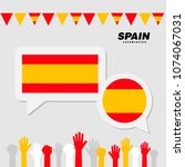national celebration with spain ... | Shutterstock .eps vector #1074067031