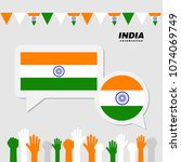 national celebration with india ... | Shutterstock .eps vector #1074069749