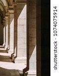 abstract columns corridor...   Shutterstock . vector #1074075914