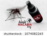 world malaria day   april 25  ... | Shutterstock . vector #1074082265