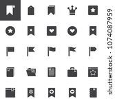 bookmarks and tags vector icons ... | Shutterstock .eps vector #1074087959