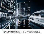 office building in the night | Shutterstock . vector #1074089561