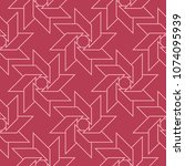 geometric ornament. red and... | Shutterstock .eps vector #1074095939