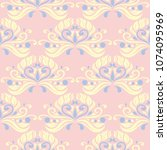 floral seamless pattern. pale... | Shutterstock .eps vector #1074095969