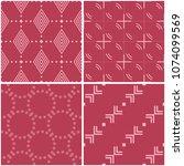 geometric patterns. set of pale ... | Shutterstock .eps vector #1074099569