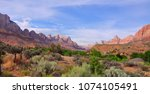 zions national park  utah  usa   Shutterstock . vector #1074105491