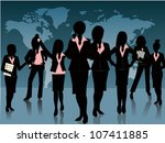 group of business woman... | Shutterstock .eps vector #107411885