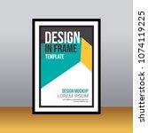 in frame desk poster abstract... | Shutterstock .eps vector #1074119225