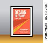 in frame desk poster abstract... | Shutterstock .eps vector #1074119231