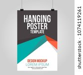hanging poster clip abstract... | Shutterstock .eps vector #1074119261