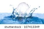 light bulb falling into water... | Shutterstock . vector #107413349