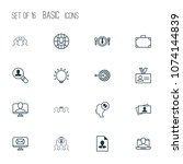 corporate icons set with... | Shutterstock .eps vector #1074144839