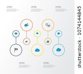 climate icons colored line set... | Shutterstock .eps vector #1074144845