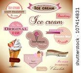 set of vintage ice cream shop... | Shutterstock .eps vector #107414831