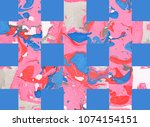 colorful abstract hand painted...   Shutterstock . vector #1074154151
