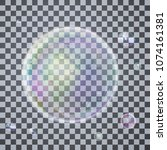 set colorful bubble in vector.... | Shutterstock .eps vector #1074161381