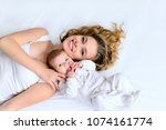 beautiful mother and newborn...   Shutterstock . vector #1074161774