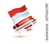 happy indonesia independence... | Shutterstock .eps vector #1074161789