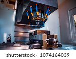 metalworking cnc milling... | Shutterstock . vector #1074164039