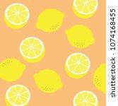 lemon pattern print. vector...   Shutterstock .eps vector #1074168455