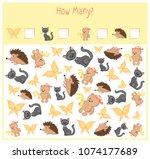 counting game for preschool... | Shutterstock .eps vector #1074177689