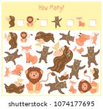 counting game for preschool... | Shutterstock .eps vector #1074177695