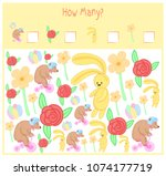 counting game for preschool... | Shutterstock .eps vector #1074177719